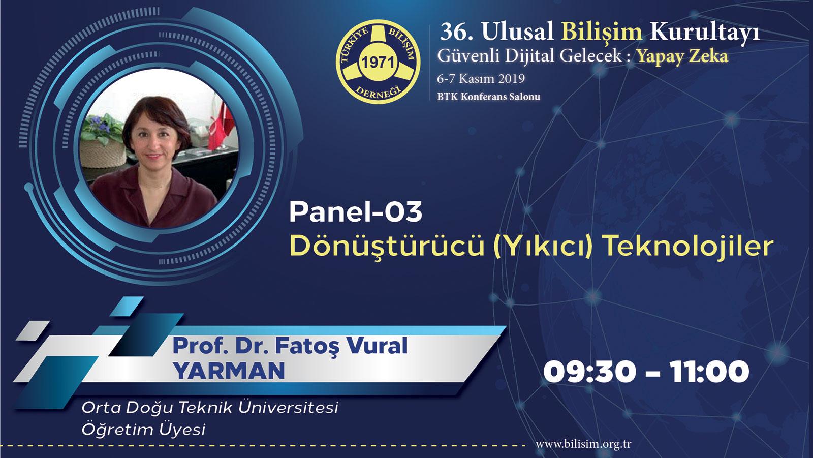 Fatoş Vural YARMAN - 36. Ulusal Bilişim Kurultayı