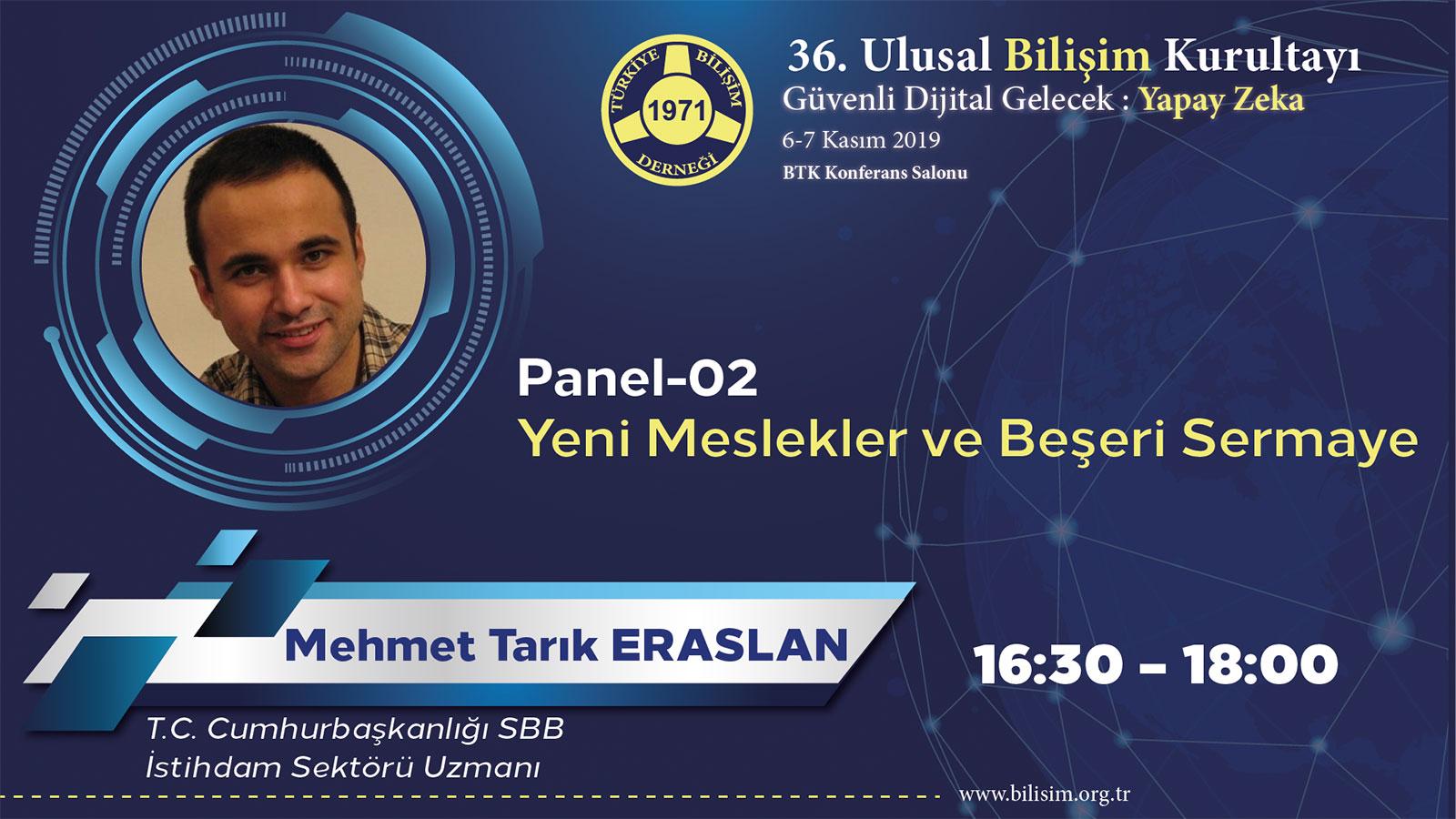 Mehmet Tarık ERARSLAN - 36. Ulusal Bilişim Kurultayı